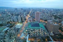 Panoramiczna nocy scena Taipei śródmieście Zdjęcia Royalty Free