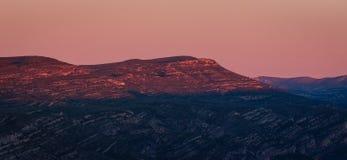 Panoramiczna piękna wschód słońca sceneria góry w Hiszpania obraz royalty free