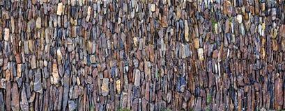 Panoramiczna pionowo kamień ściana Zdjęcie Royalty Free