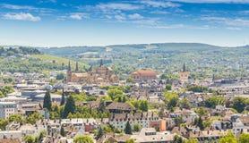Panoramicznego widoku odważniak Rhineland Palatinate Niemcy Zdjęcie Stock