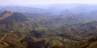 Widok z lotu ptaka góry Fotografia Royalty Free