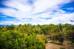 Panoramiczni widoki ocean od balkonu Fotografia Stock