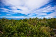 Panoramiczni widoki piękny niebo i ocean od Obrazy Stock