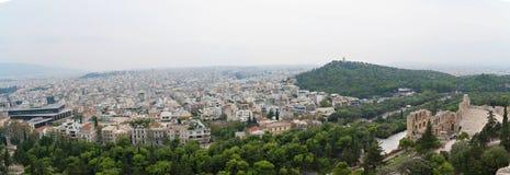 Panoramiczny Ateny zdjęcia royalty free