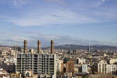 panoramiczny Barcelona widok Zdjęcie Royalty Free