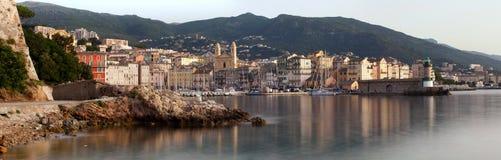 Panoramiczny Bastia widok, Corsica Zdjęcia Stock