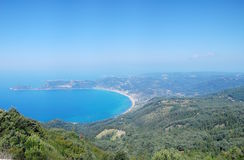 panoramiczny Corfu widok Zdjęcia Royalty Free