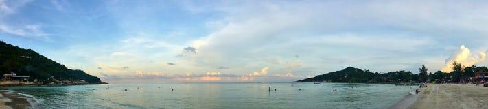 Panoramiczny Denny widok na gorącym dniu Zdjęcia Stock