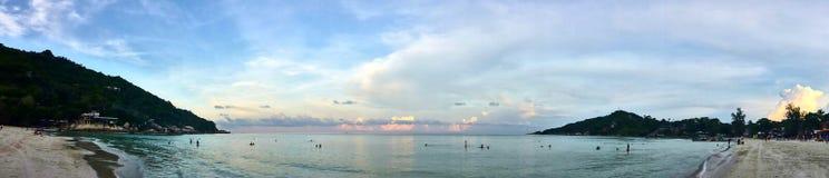 Panoramiczny Denny widok na gorącym dniu Obrazy Royalty Free