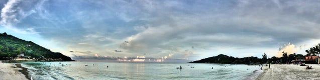 Panoramiczny Denny widok na gorącym dniu Zdjęcie Royalty Free
