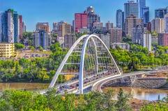 Panoramiczny Edmonton linia horyzontu obraz stock