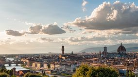 panoramiczny Florence widok fotografia royalty free