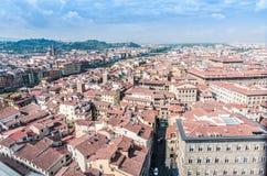 Panoramiczny Florencja wokoło rzecznego Arno fotografia royalty free