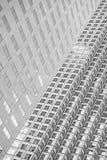 Panoramiczny i perspektywiczny szeroki kąta widok stalowego błękita backgrou Zdjęcie Stock