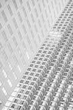 Panoramiczny i perspektywiczny szeroki kąta widok stalowego błękita backgrou Zdjęcia Stock