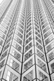 Panoramiczny i perspektywiczny szeroki kąta widok stalowego błękita tło szkło Zdjęcia Stock