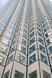 Panoramiczny i perspektywiczny szeroki kąta widok stalowego błękita tło szkło Zdjęcie Stock
