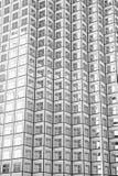 Panoramiczny i perspektywiczny szeroki kąta widok stalowy tło szkło Obrazy Stock