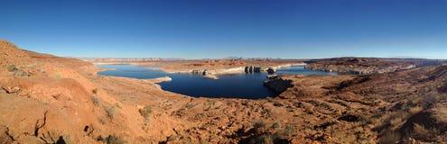 Panoramiczny jeziorny dwójniak, strona, Arizona, usa Zdjęcie Stock