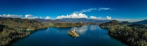 Panoramiczny jezioro Krwawiący fotografia stock