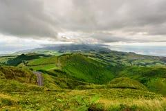 Panoramiczny krajobraz od Azores lagun Zdjęcie Stock