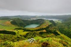 Panoramiczny krajobraz od Azores lagun Zdjęcia Stock
