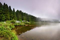 Panoramiczny krajobraz od Azores lagun Canario laguna Obrazy Royalty Free