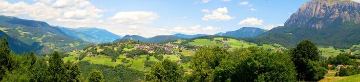 Panoramiczny krajobraz przy Włoskim Południowym Tyrol Zdjęcie Royalty Free
