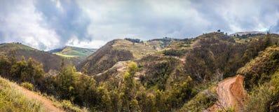 Panoramiczny las i wzgórza od średniogórzy Zdjęcie Royalty Free