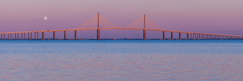 Panoramiczny linia horyzontu Most () Fotografia Royalty Free
