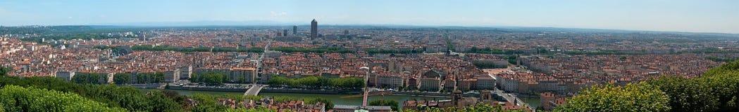 panoramiczny Lyon powietrzny widok zdjęcie royalty free