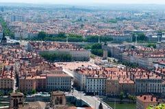 panoramiczny Lyon powietrzny widok fotografia stock