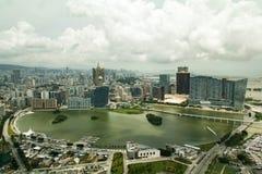 Panoramiczny Macau miasto od Macau wierza Fotografia Royalty Free