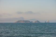 Panoramiczny Medes wyspy w morzu śródziemnomorskim, costar obrazy stock