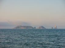 Panoramiczny Medes wyspy w morzu śródziemnomorskim, costar zdjęcie royalty free