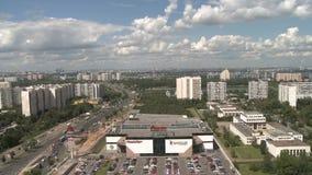 Panoramiczny miasta wideo z zoom strzelaniną zbiory