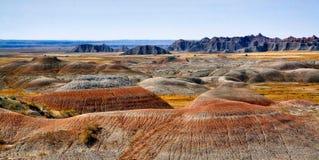 Panoramiczny Moonscape badlands zdjęcie royalty free