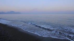 Panoramiczny morze w wieczór zbiory