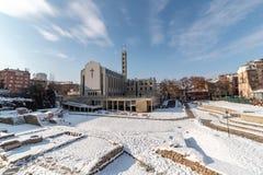 Panoramiczny obrazek katedra St Joseph w Sofia, Bułgaria zdjęcia royalty free