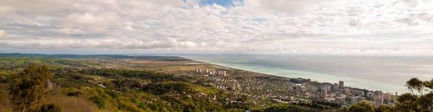Panoramiczny obrazek miasto Gagra, Abkhazia Obrazy Royalty Free