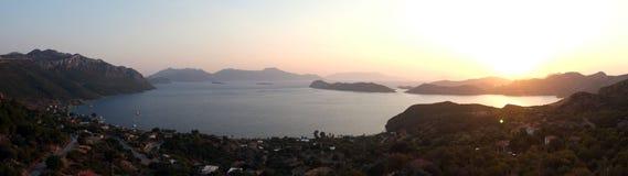 Panoramiczny półmroku widok od above zdjęcie royalty free