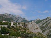Panoramiczny pejzaż miejski bar, Montenegro Obrazy Stock