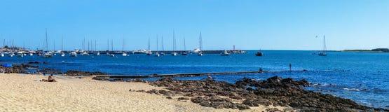 Panoramiczny Plażowy Marina Zdjęcie Royalty Free