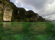 Panoramiczny Plażowy Thailland Obrazy Royalty Free