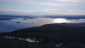 Panoramiczny Podpalany widok od trutnia zbiory