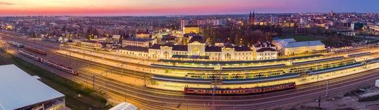 Panoramiczny powietrzny wizerunek Tarnowski pejzaż miejski, Polska obrazy royalty free