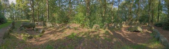 Panoramiczny przegląd dolmen D43 obraz stock