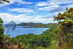 Panoramiczny przegląd raj plaży anse Lazio, praslin, seychell zdjęcie stock