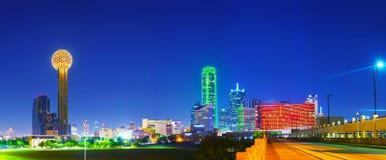 Panoramiczny przegląd w centrum Dallas obrazy stock