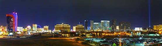 Panoramiczny przegląd w centrum Las Vegas w wieczór zdjęcia stock